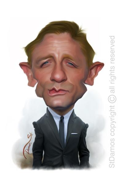 Daniel Craig Caricature by StDamos