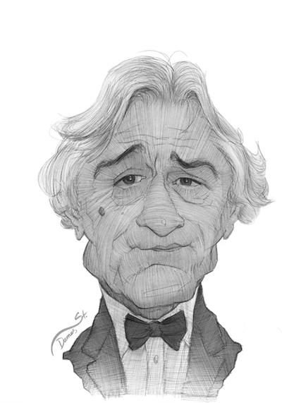 Robert De Niro Caricature Sketch by StDamos