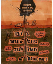 Felix and Creative Allies party poster by StDamos