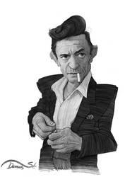 Johnny Cash Caricature Sketch by StDamos