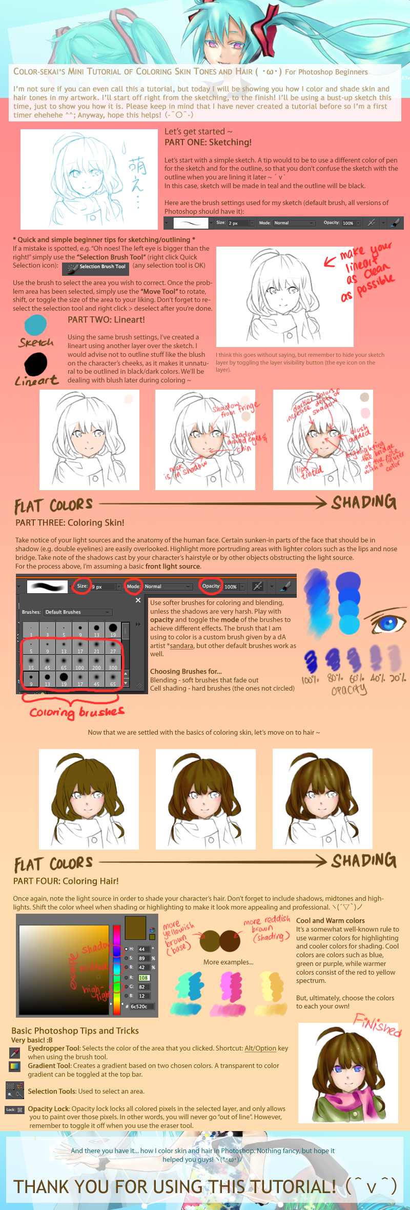 Mini Coloring Tutorial for Photoshop Beginners by color-sekai