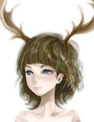 Deer Girl by color-sekai