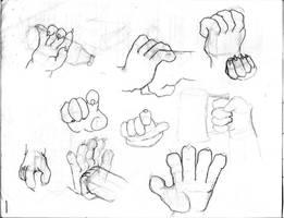 referencias manos y patas by jesush1988