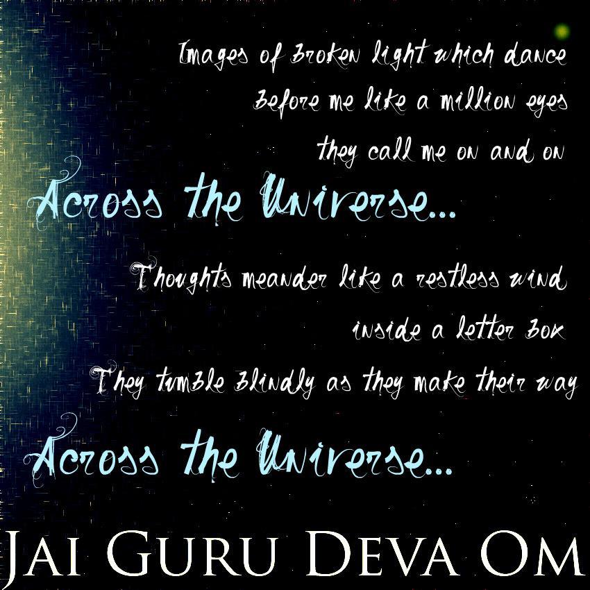 Lyric om lyrics : Jai Guru Deva Om. by monieo on DeviantArt