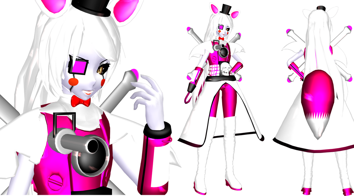 (MMD)Mecha Funtime Foxy Gijinka (Sister Location) by DrStinger