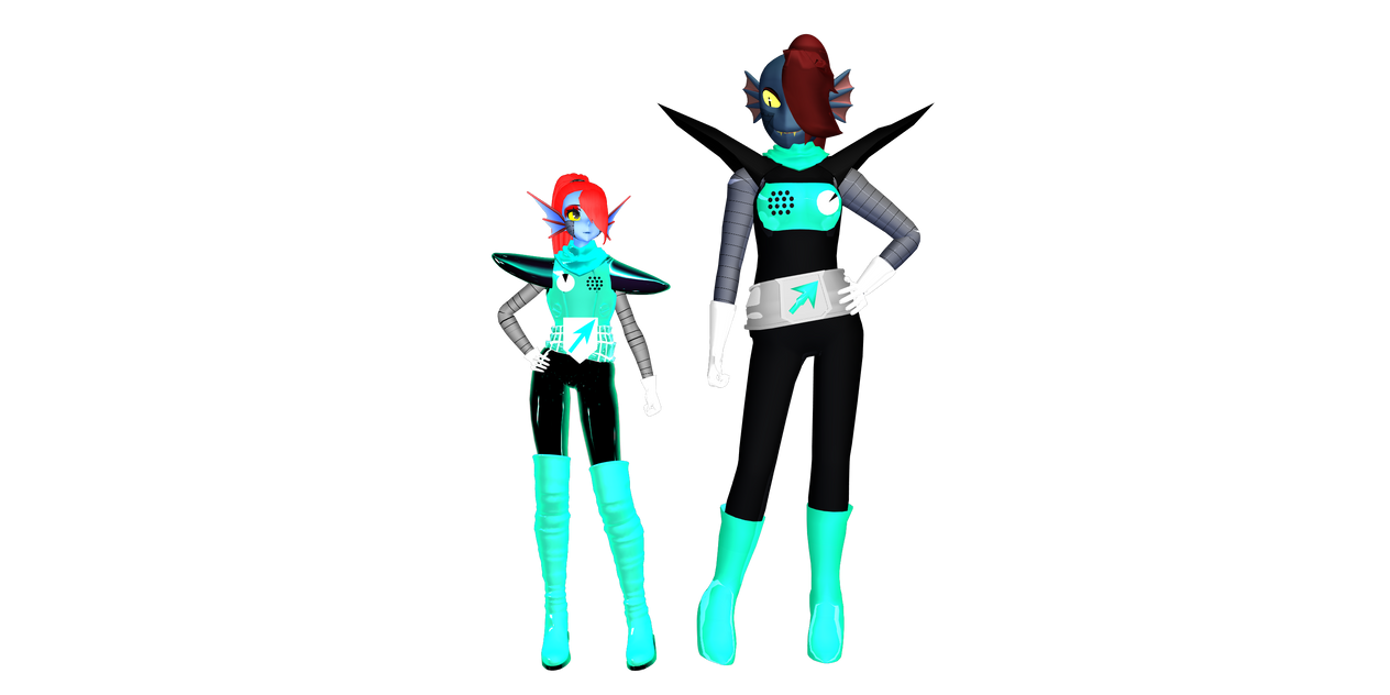Storyshift Undyne Size Comparison by DrStinger