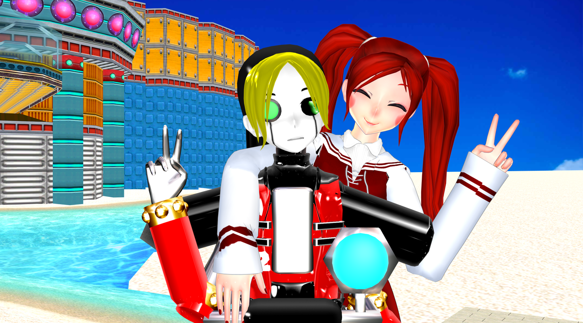 [MMD FNAFxSonicAdv] Peace by DrStinger