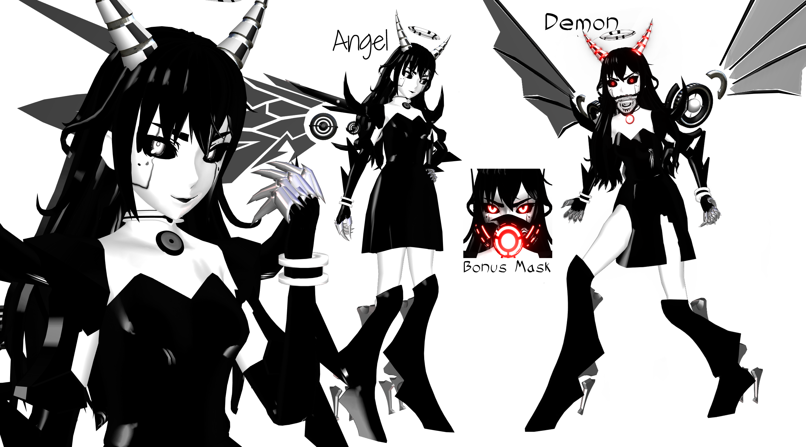 (MMD) Mecha Alice Angel Gijinka OLD (BATIM) by DrStinger