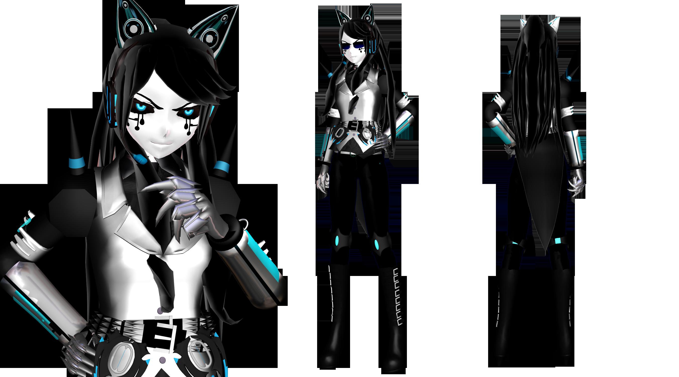 [MMD] Mecha Kitty Gijinka (BATIM OC) by DrStinger
