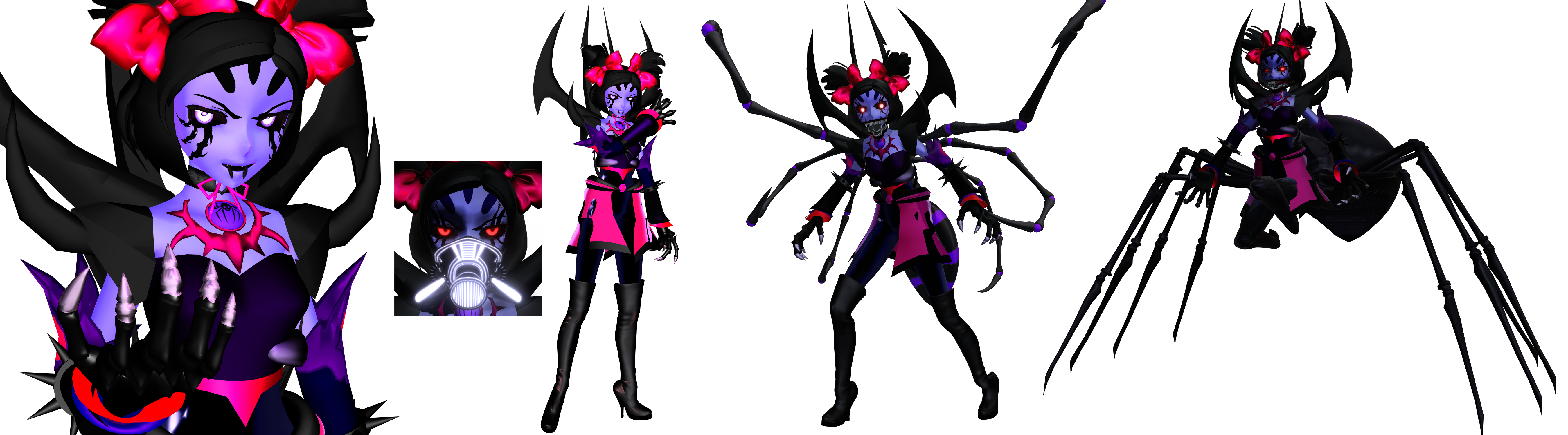 [MMD] Monster Muffet Updated (Undertale) by DrStinger