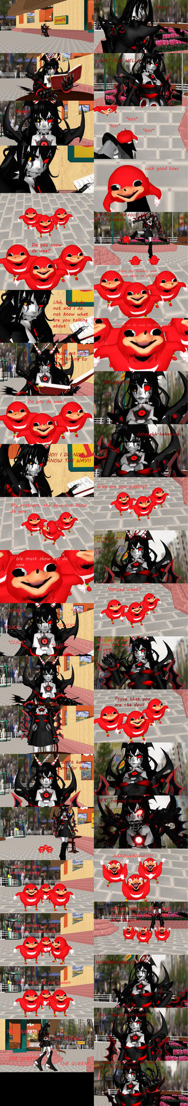 [MMD] Ugandan Knuckles meets Mecha Alice by DrStinger
