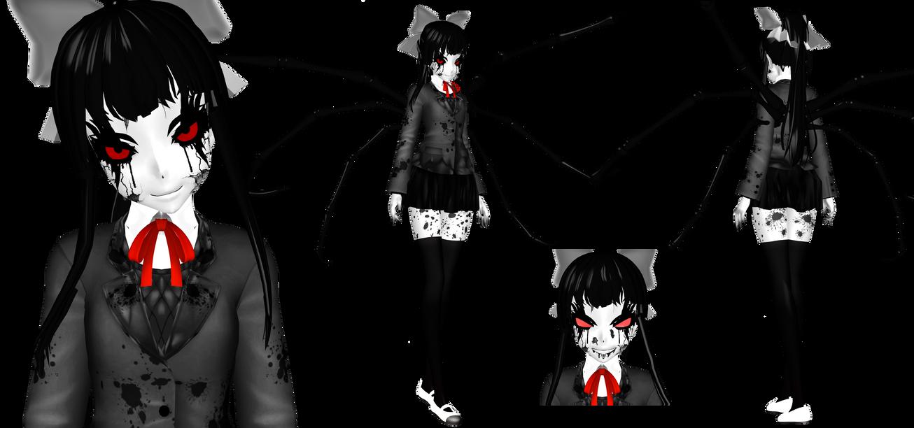 [MMD] Dark Monika (DDLC) by DrStinger