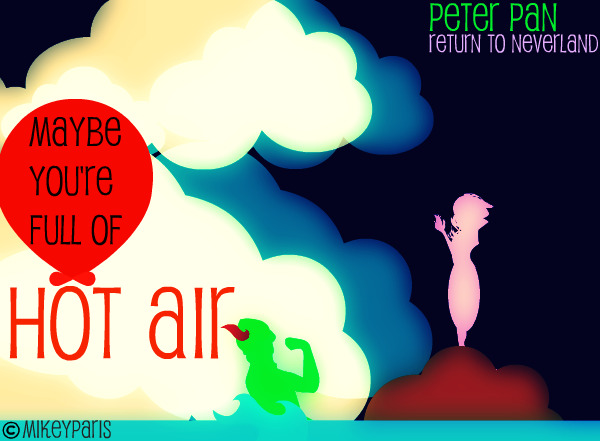 Peter Pan: Hot air by MIKEYCPARISII