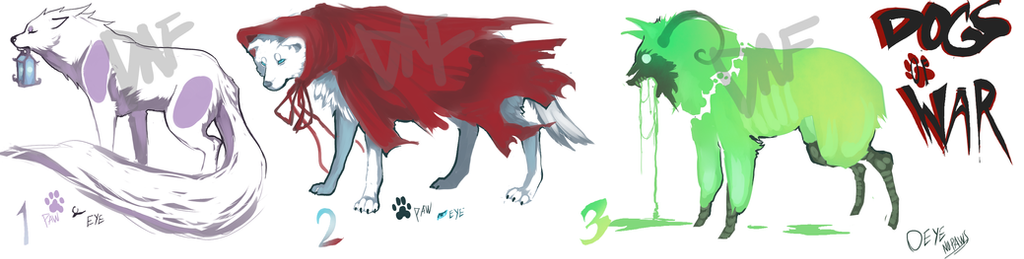 DOGS of WAR adoptables//CLOSED by DarkAngelFound