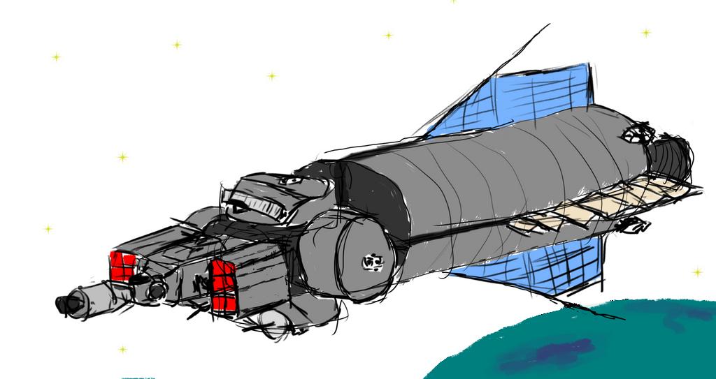 VR-H2-148 - primary orbital defence ship by exocolumn