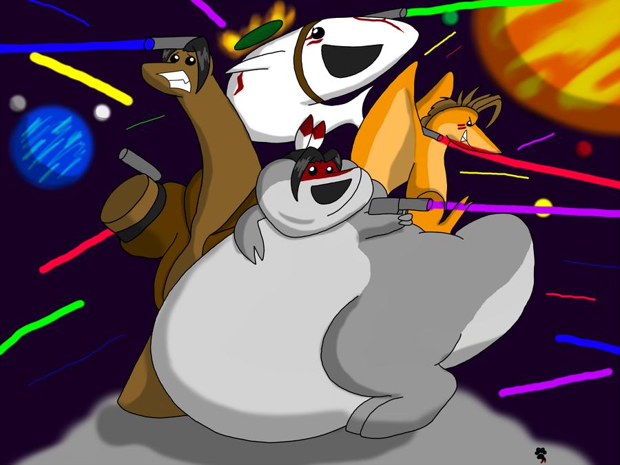 Dinosaur Laser Fight by Big-Wolf
