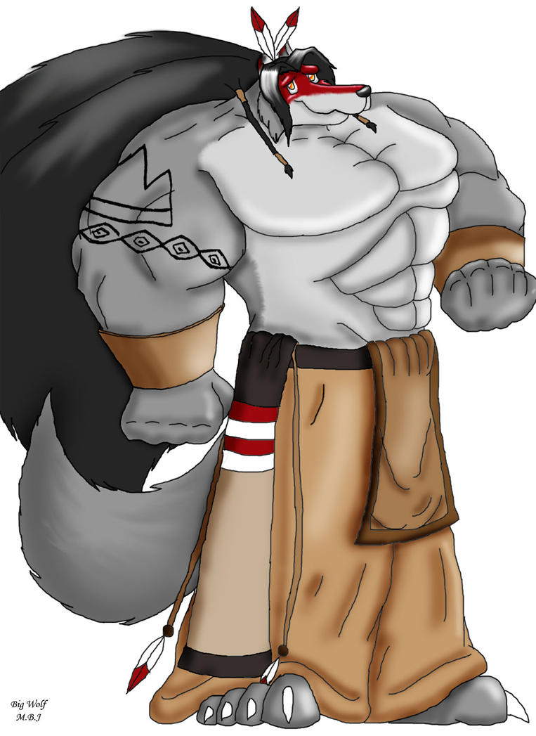 Muscular Anthro Wolf Big Wolf The Muscular Wolf by