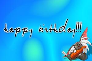 Ryo-Ohki Happy Birthday by profinblack