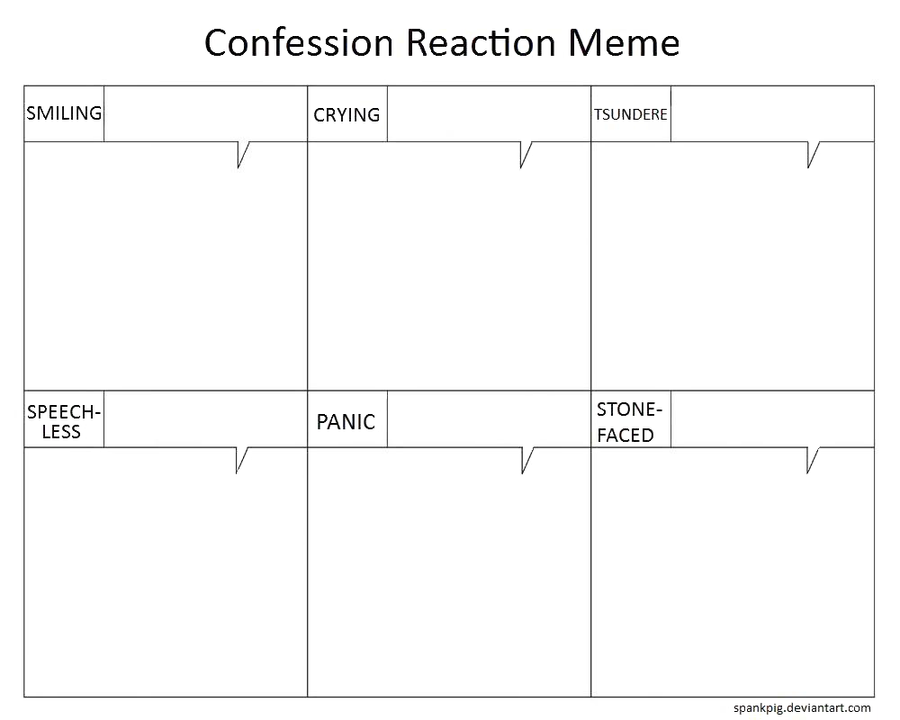 Confession Reaction Meme by spankpig