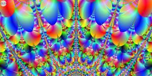 JLF0714 Rainbow Fan