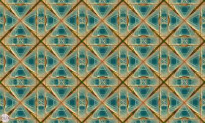 JLF1872 Tiles of the Golden Grid on Blue