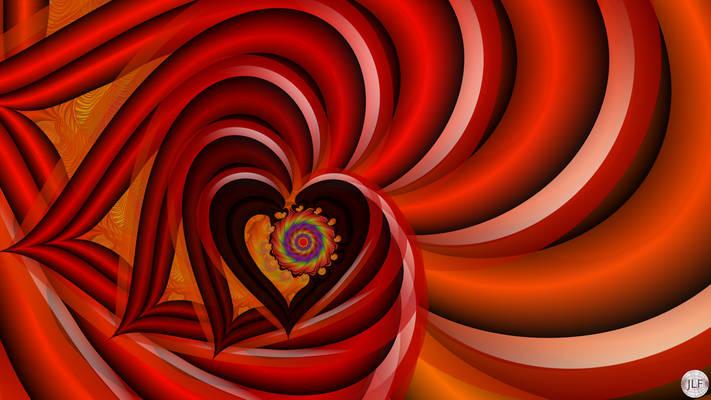 JLF2085 Red Heart Spinning