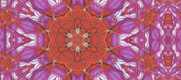 JLF2115 Limelighted Kaleidoscope in Orange Purple