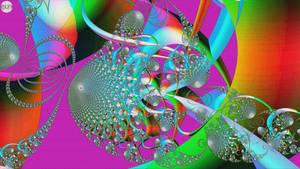 JLF2615bis Blue Fantasia on Psychedelic Background