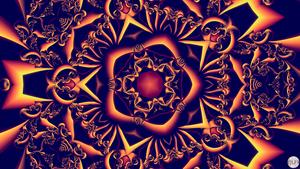 JLF2751 Coiled Pentagonal Star