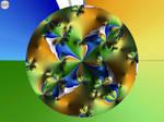 JLF2759  A Blue, Green and Orange Circle