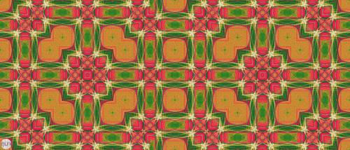 JLF2764 Tiles of the Green Orange Bath