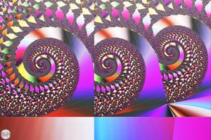 JLF2777bis Three Multicoloured Twirls