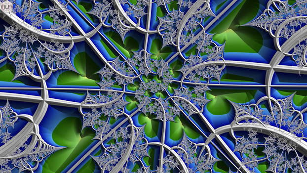 JLF2964 Gossamer on Blue Green