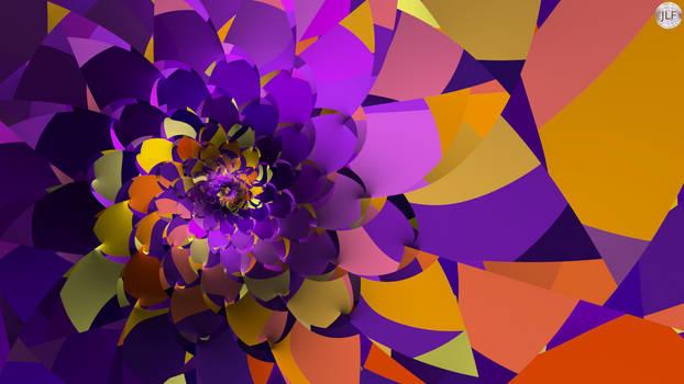 JLF2967 Detail of Purple Flowah
