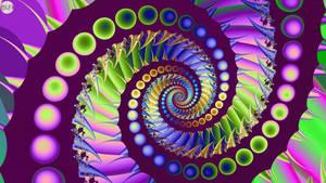 JLF3104 Shining Purple Spiral