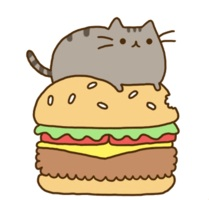 Gato Pusheen Hamburguesa by IlianAnime