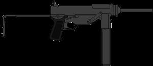 US Submachine Gun M3
