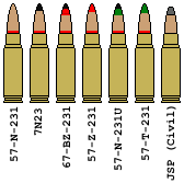 7.62x39mm Rounds by DaltTT
