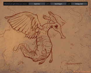 07-09-14 Sparrow-Sea Dragon-Orangutan-Garvin by BobGarvinArt