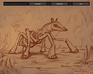 07-23-14 Numbat-Elephant-Ant by BobGarvinArt