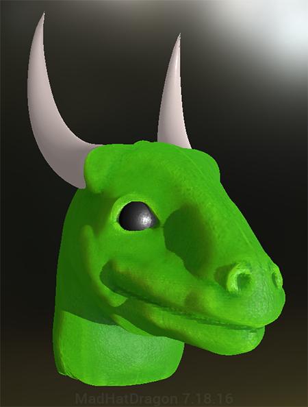 Draconic Head by MadHatDragon