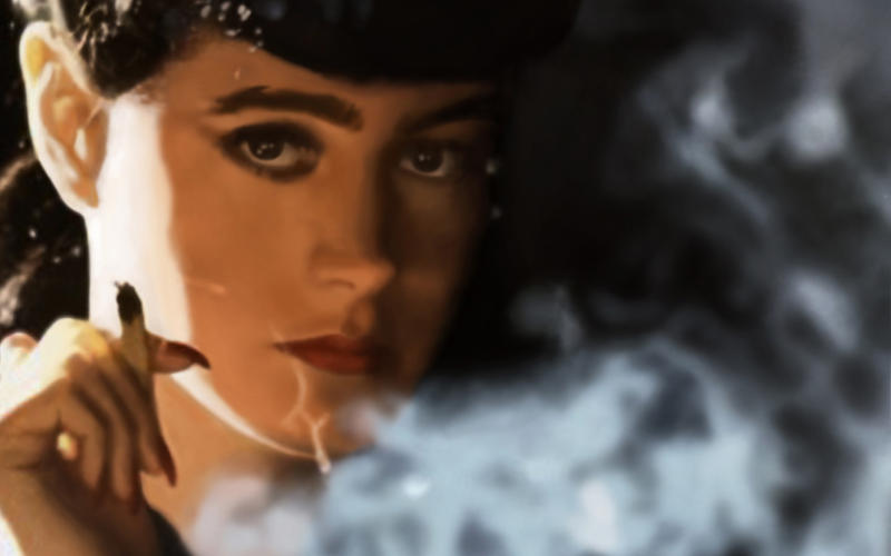 Image result for rachel bladerunner /smoke