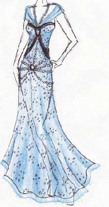 Blue dress by Nataly-Kumamoto