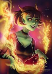 Fire Demon by Surkuhupainen