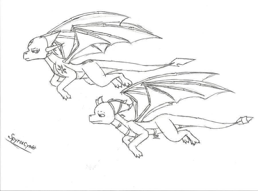spyro and cynder coloring pages - photo#34