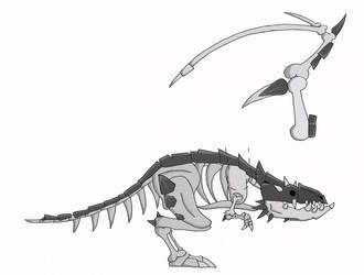 Bone proto drake by thelimeofdoom
