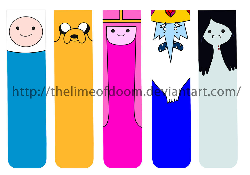 Adventure Time Bookmarks By Thelimeofdoom On DeviantArt