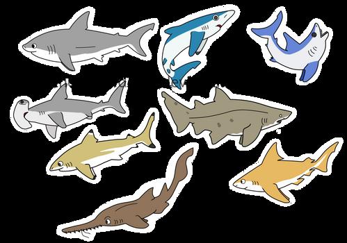 Shark chibis