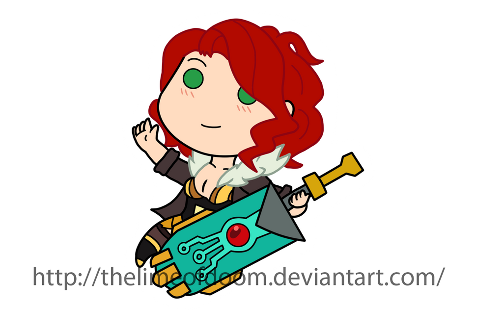 Transistor chibi by thelimeofdoom
