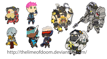 More Overwatch chibis